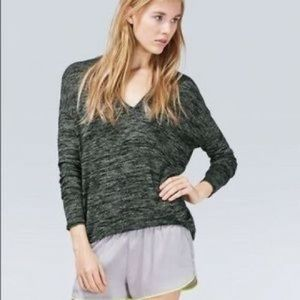 ARITZIA WILFRED Devinette V-neck Marled Sweater